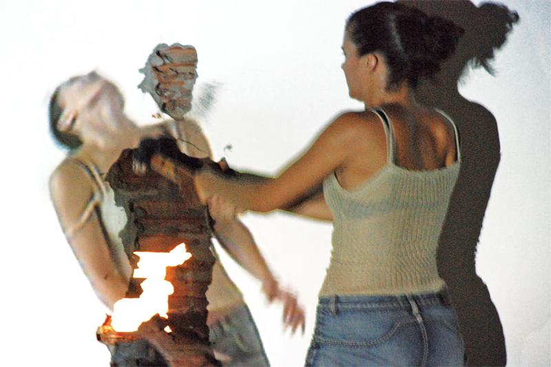 Derrube 1, 2009, Videoinstalacao Galeria Inox